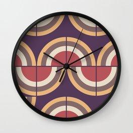 Mid-century modern pattern 1 Wall Clock