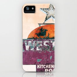 Vintage Neon Sign - The Western - Tucson iPhone Case
