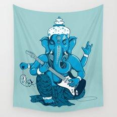 Ganesha rocks ! (v3) Wall Tapestry