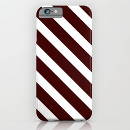 Diagonal lines pattern white iPhone Case