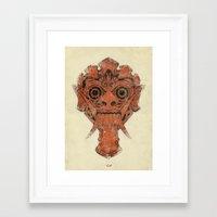 mask Framed Art Prints featuring Mask by Guilherme Rosa // Velvia