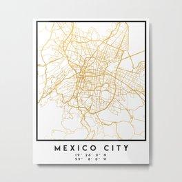 MEXICO CITY MEXICO CITY STREET MAP ART Metal Print