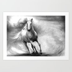 Horse GRAPHITE DRAWING II. Art Print