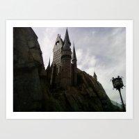 hogwarts Art Prints featuring Hogwarts by Tsar Amanda Peterson