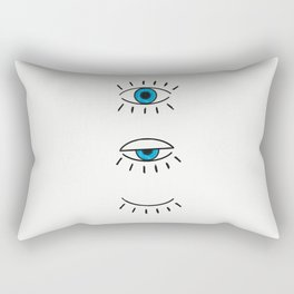 Summer Evil Eyes Rectangular Pillow
