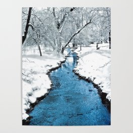 Overnight Snow in Edgemont Park Poster