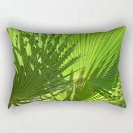 Shades of Palm Leaves Rectangular Pillow
