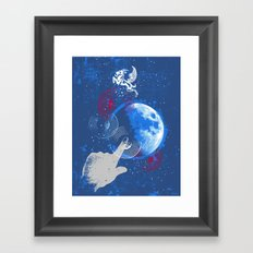 Winged Goat of the Cosmos Framed Art Print