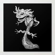 Axolotl Skeleton Canvas Print