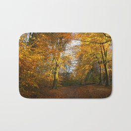 Forest Walk With Dazzling Autumn Colours Bath Mat