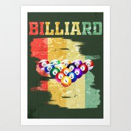 BILLIARD Art Print
