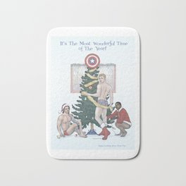 Team Cap Nice Pinup Holiday Card Bath Mat