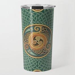 Celtic Knotwork Shield Travel Mug