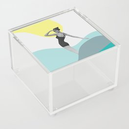 Swimmer Collage Acrylic Box