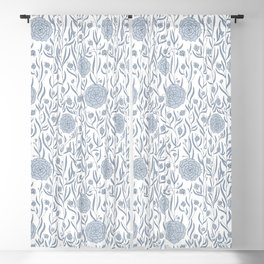 Delft Dahlias Blackout Curtain