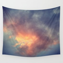 Fiery cloud Wall Tapestry