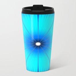 TURQUOISE Flower Travel Mug