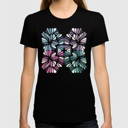 Colourful Floral Zenspire Swirl Shell Design T-shirt
