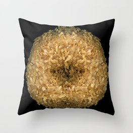 Coconut Donut Throw Pillow