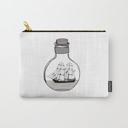 The ship in the glass bulb . Artwork Carry-All Pouch