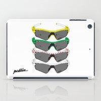 tour de france iPad Cases featuring Tour de France Glasses by Pedlin