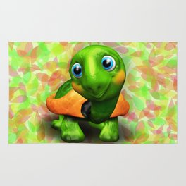 Green Turtle Baby 3D Rug