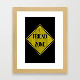 Friend Zone Framed Art Print