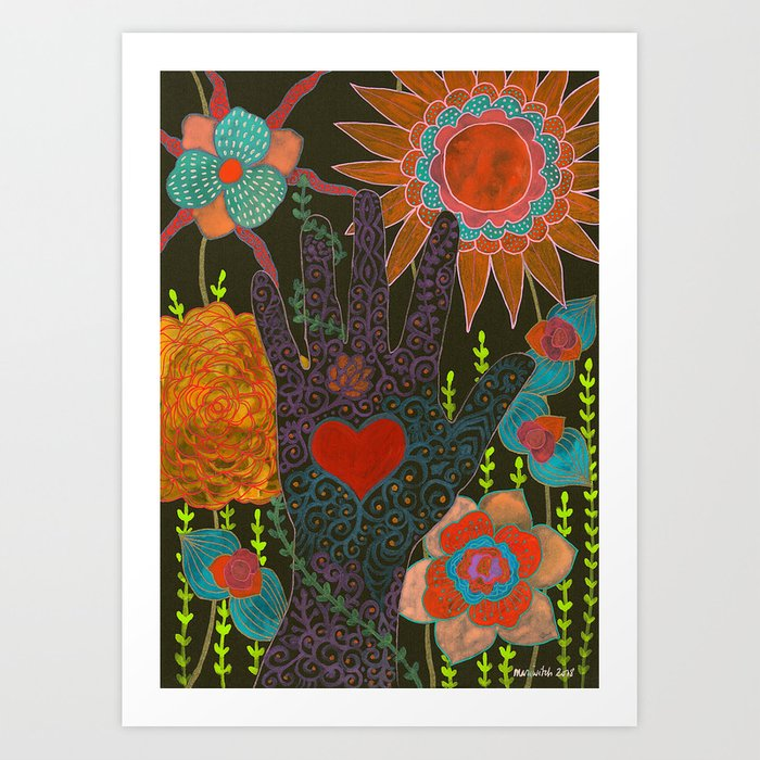 To Have Your Heart In My Hand Art Print