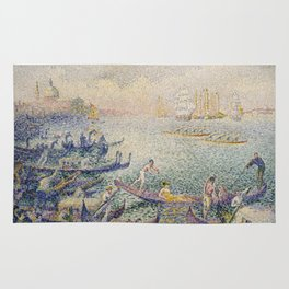Henri Edmond Cross - Regatta In Venice Rug