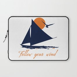 Follow your winds (sail boat) Laptop Sleeve