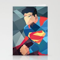 dc comics Stationery Cards featuring DC Comics Man of Steel by Eric Dufresne