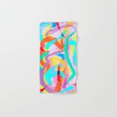 DANCE ALL NIGHT  Original Abstract Painting by Lenna Arty Hand & Bath Towel