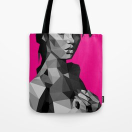 Black Magenta Tote Bag