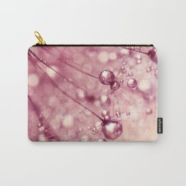 Pink Drops & Sparkles Carry-All Pouch