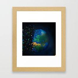 Save the world destruction Framed Art Print
