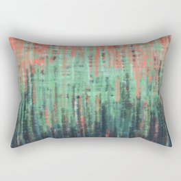 Coral Mint Navy Abstract Rectangular Pillow