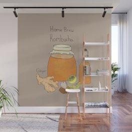 Home Brew Kombucha Ginger and Lemon Wall Mural