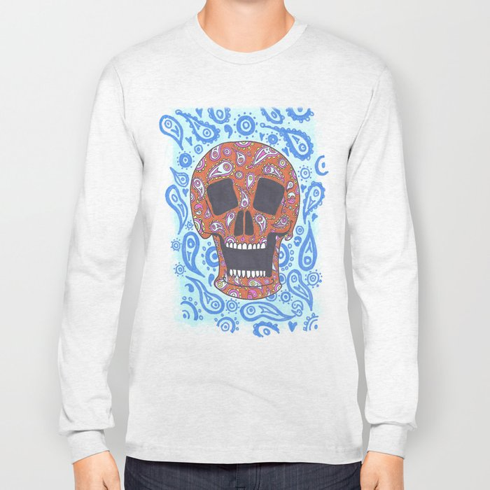 Paisley Skull Long Sleeve T-shirt