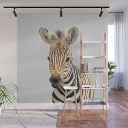 Baby Zebra - Colorful Wall Mural
