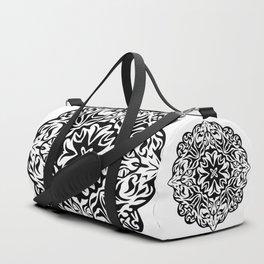 Polynesian style tattoo mandala Duffle Bag