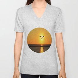 Icarus Vacationing in San Diego, California Unisex V-Neck