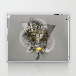Keep calm and breathe deeply Laptop & iPad Skin