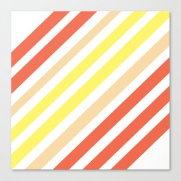 Red Yellow Lines Canvas Print