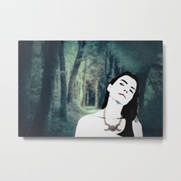 Witch In the Woods Metal Print