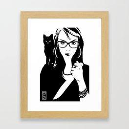 Tulip + The Cat Framed Art Print