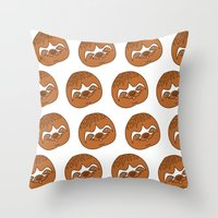 sloths Throw Pillows featuring So Many Sloths by tripinmidair
