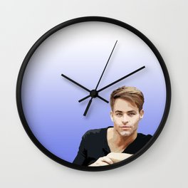 Chris Pine 5 Wall Clock