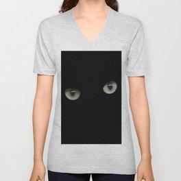 green cat's eyes Unisex V-Neck