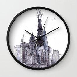 Shanghai. China. Babylon. Pudong ditrict Wall Clock