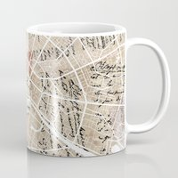 berlin Mugs featuring Berlin by Mapsland